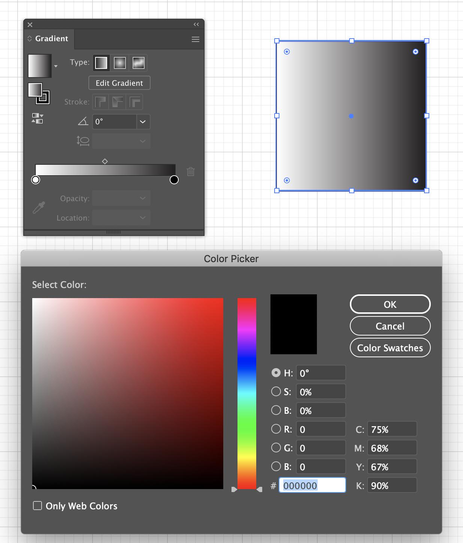 Gradient color picker
